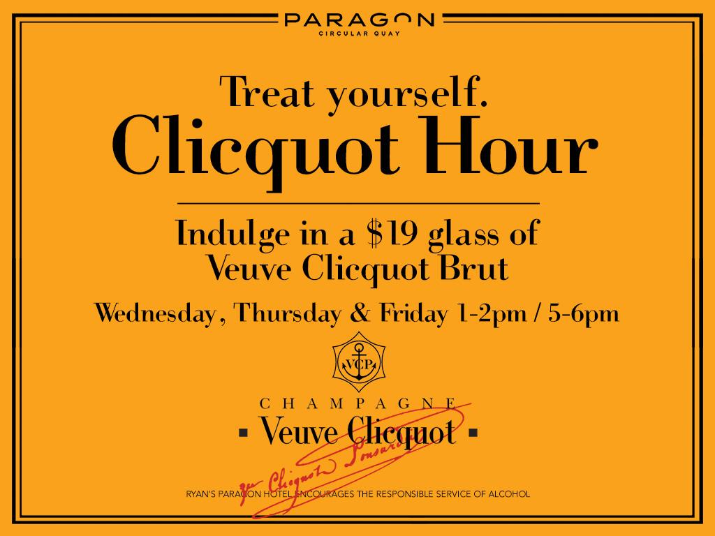 Clicquot Hour Paragon Hotel